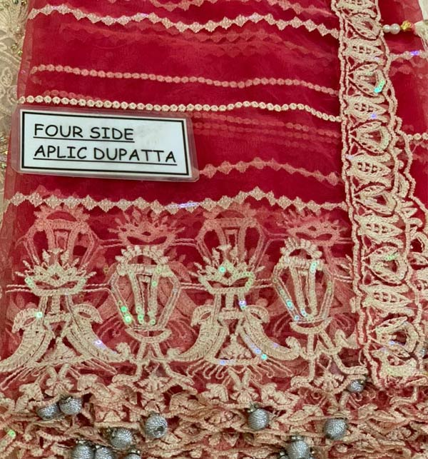 New Heavy Embroidered Dress With Net Embroidered Dupatta (CHI-507) Gallery Image 2