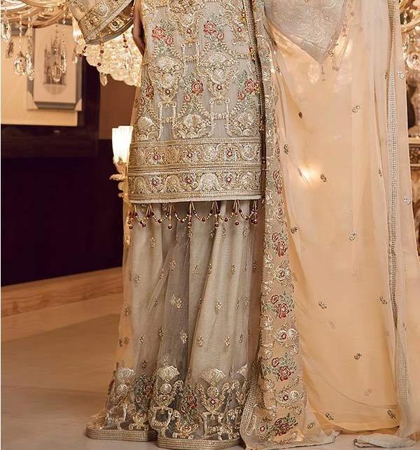 Masoori Full Emroidered Dress With Mahsori Embroidered Dupatta NET Emb Plazo Ghair Style (CHI-508) Gallery Image 1