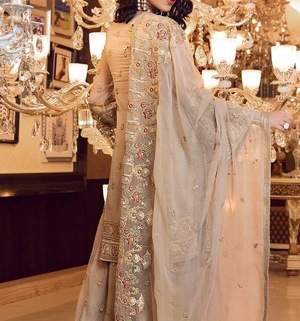 Masoori Full Emroidered Dress With Mahsori Embroidered Dupatta NET Emb Plazo Ghair Style (CHI-508) Gallery Image 2