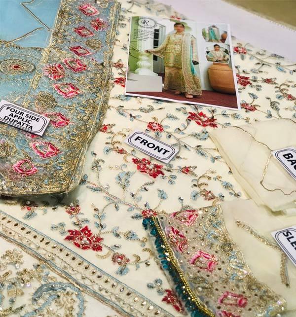 Chiffon Suit with Chiffon Heavy Pallu Embroidered Dupatta (CHI-509) Gallery Image 1