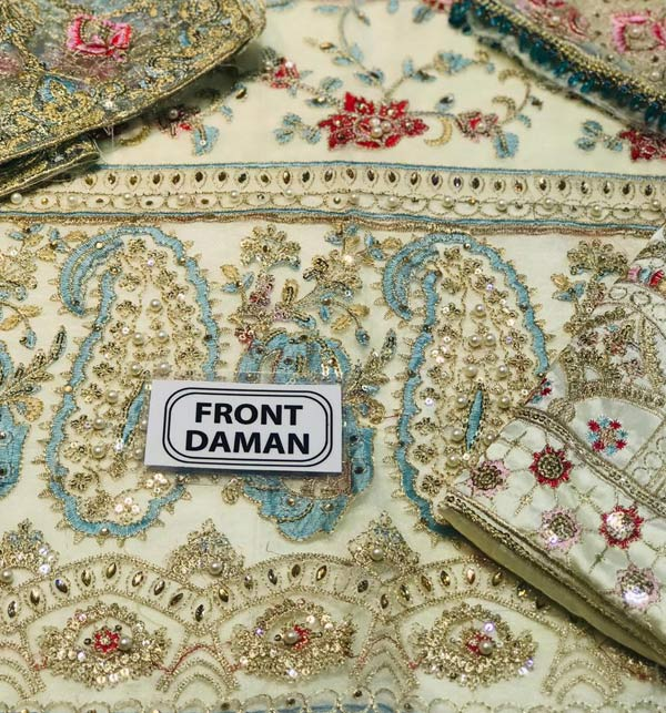 Chiffon Suit with Chiffon Heavy Pallu Embroidered Dupatta (CHI-509) Gallery Image 3