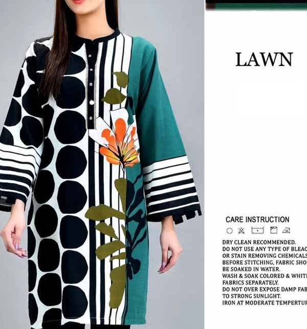 Embroidered Lawn Suit 2021 with Chiffon Dupatta (DRL-725)