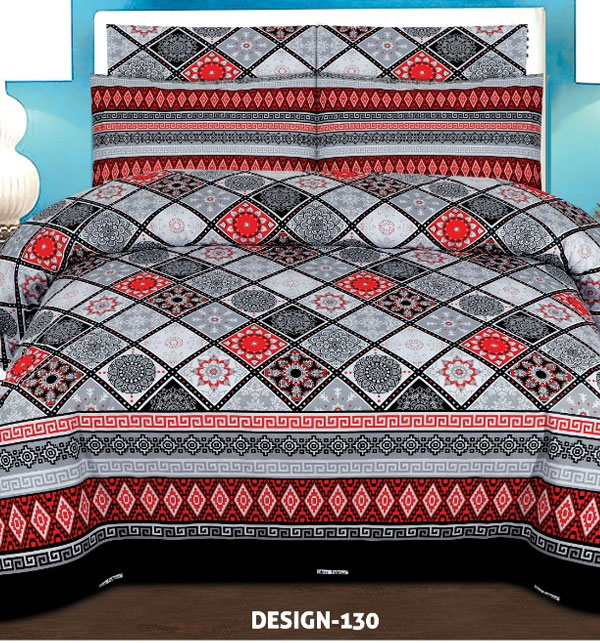 King Size Cotton Bed Sheet With 2 Pillow Cover (BCP-49)