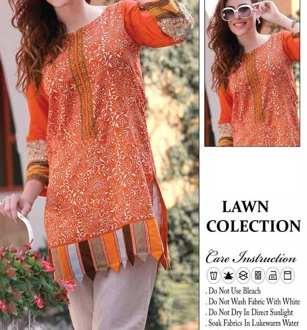 Lawn Full Heavy Embroidery Suit With Trouser Embroidery (DRL-705)