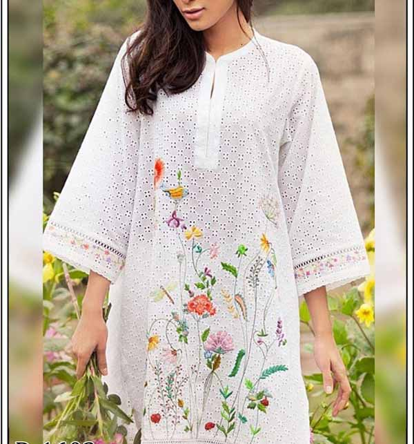Chikankari Lawn Heavy Embroidered 2 PCS Suit 2020 (DRL-485) (Unstitched)