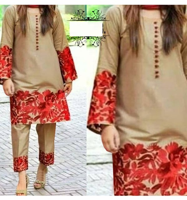 Linen Heavy Embroidered Dress 2 Pce UnStitched (LN-131)