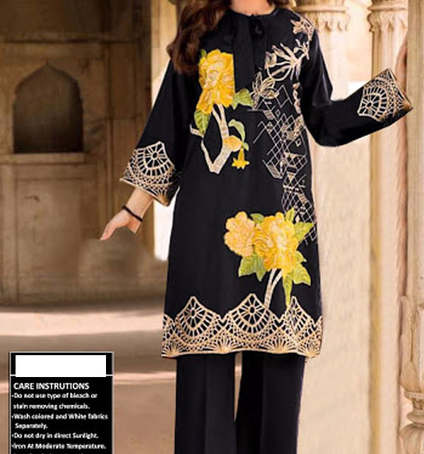 2 Piece Unstitched Embroidery Lawn Suits 80/80 (DRL-489)