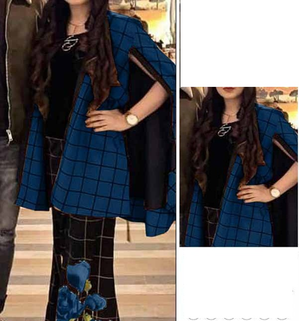 2 Pieces Embroidered Lawn Dresses With Embroidered  Trouser  (DRL-873)