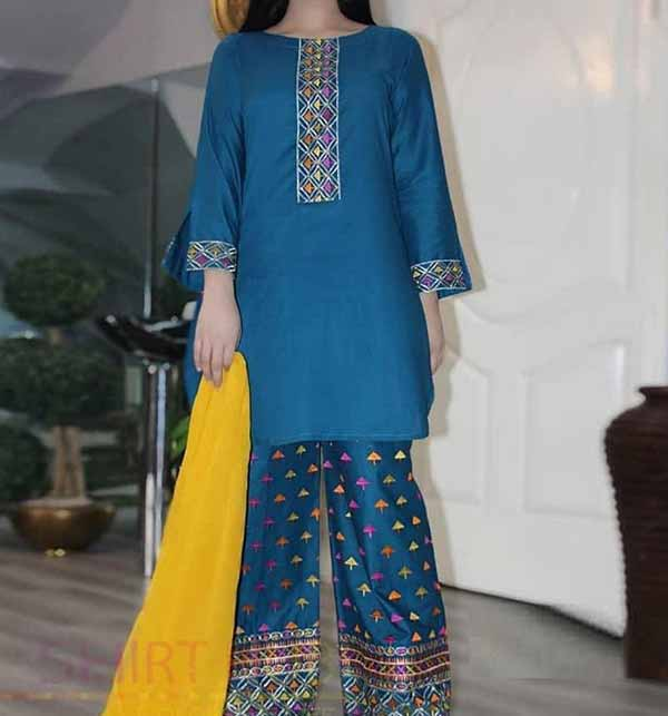 Lawn 2 Pec Full Embroidered Suit Emb Trouser UnStitched (DRL-768)
