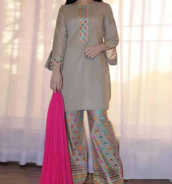 2 Pieces Embroidered Lawn Suit UnStitched (DRL-769)