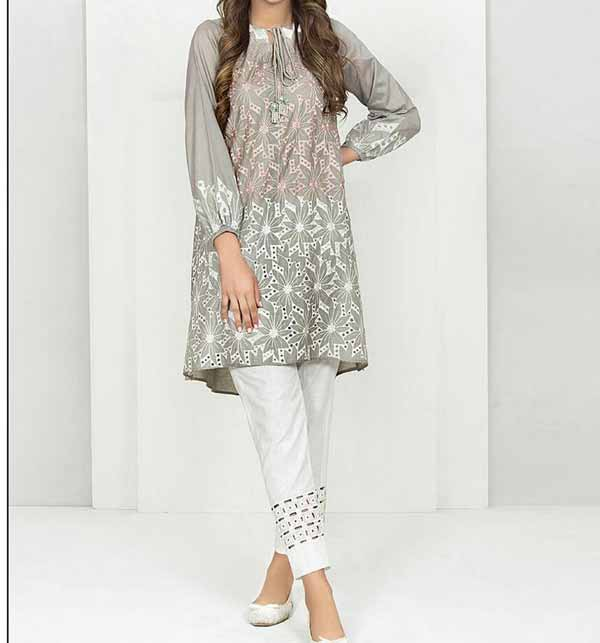 Lawn Full Heavy Embroidery Suit With Trouser Embroidery (DRL-700)
