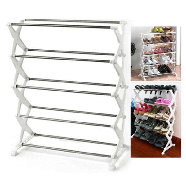 5 Shelf Portable Shoe Rack Holds upto 15 Pairs