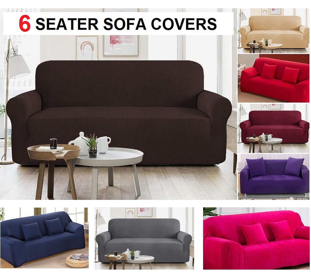 6 Seater Jersey Sofa Cover Sets  (3+2+1 Seater)