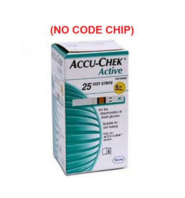 Accu-Chek Active - 50 Test Strips (NO CODE CHIP)