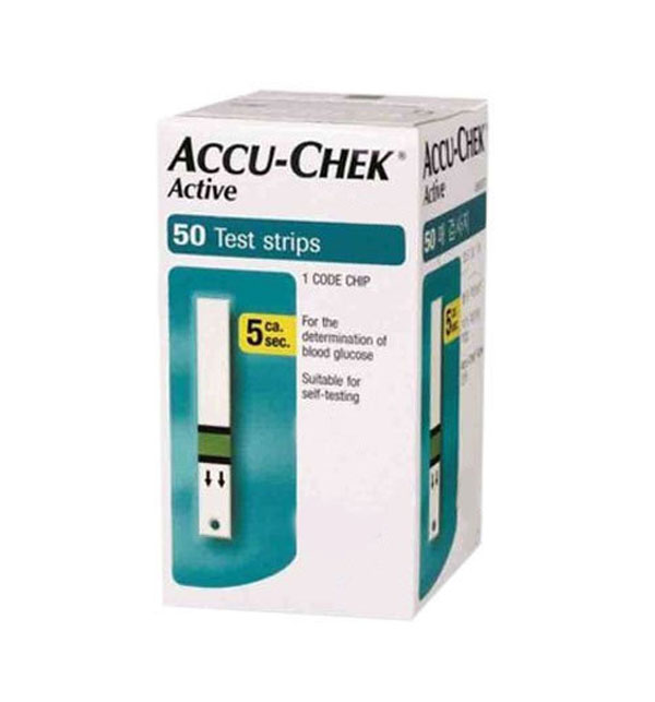 Accu-Chek Active - 50 Test Strips (NO CODE CHIP)