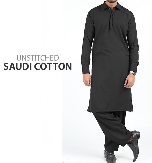 Saudia Cotton (Orignal) Men's Kameez Shalwar Unstitched (MSK-52)