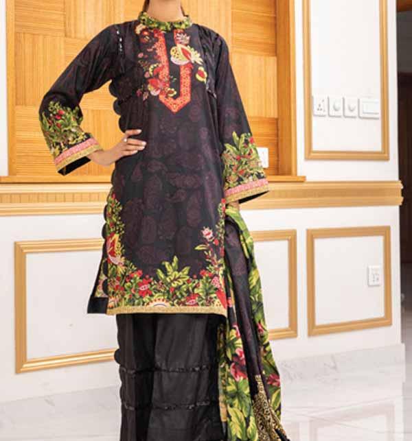 Anum 3 Piece Printed Lawn Dress With Lawn Dupatta (ANL-06)