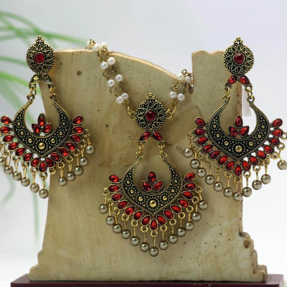Artificial Antique Turkish Necklace Set - (PS-135)