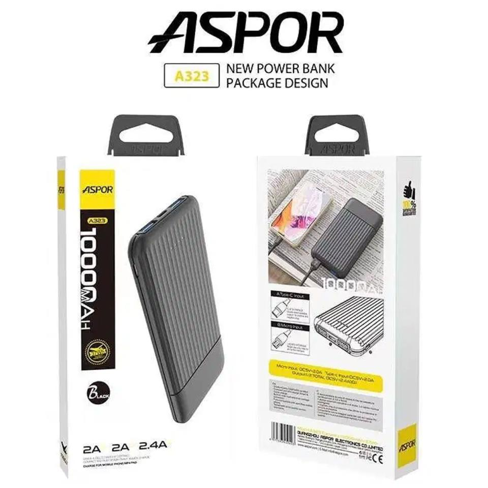 Aspor A323 10000 MAh Power Bank USB Battery Charger For all Mobile Phone