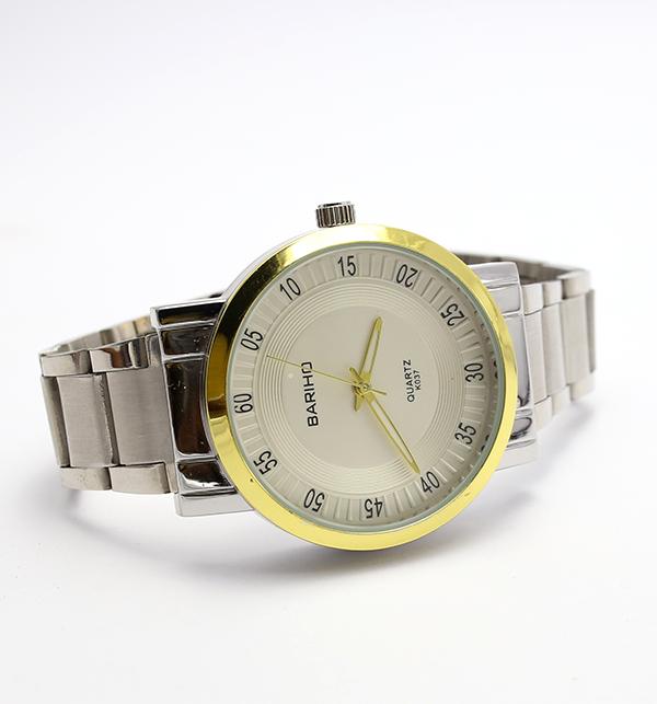 Bariho Stylish White Dialer Silver Chain Watch (CW-83)