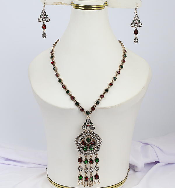 Beautiful  Design Mala Necklace Set With Earing For Women (PS-197)