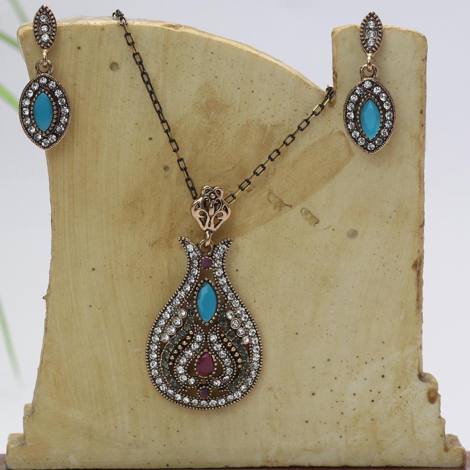 Beautiful Antique Turkish Designs Necklace Set For Ladies (PS-134)