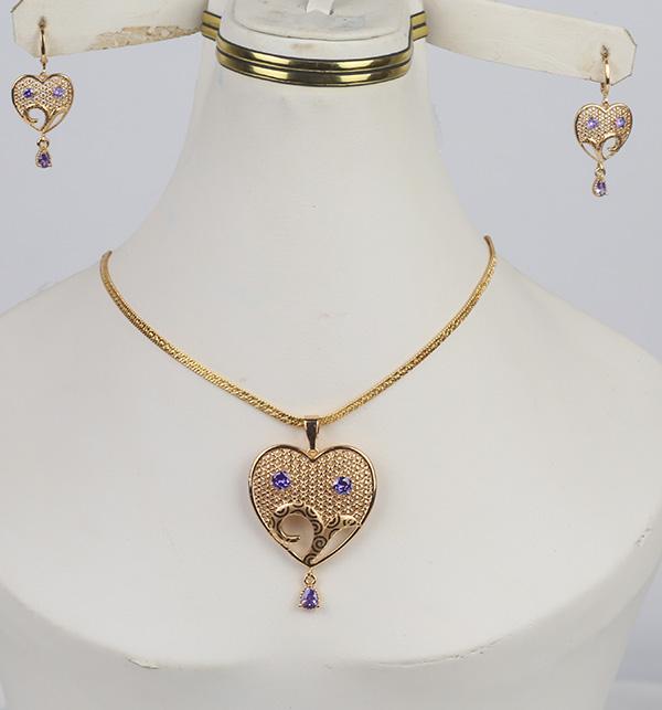 Beautiful Heart Locket Set With Earring (PS-358)