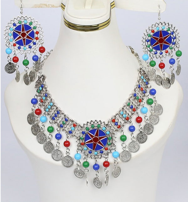 Turkish Necklace Set With Earrings (PS-195)