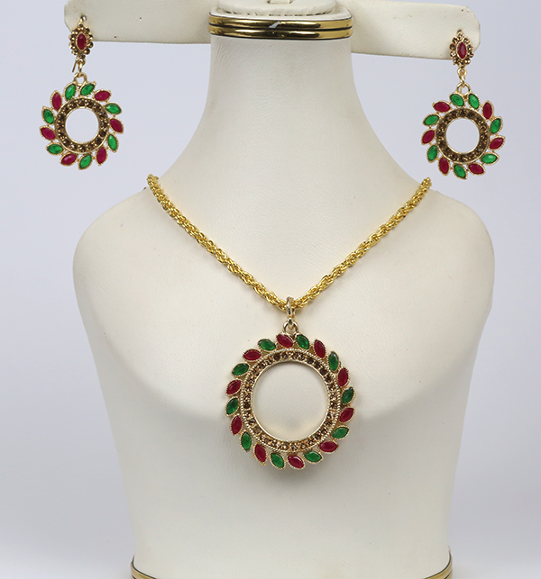 Beautiful Necklace Set  With Earrings  (PS-241)