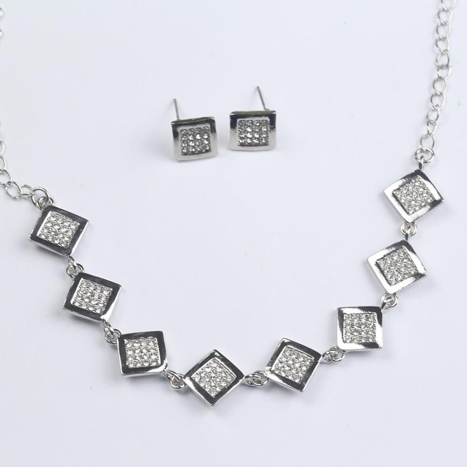 Beautiful Silver Jewellery Set For Girls - (PS-152)