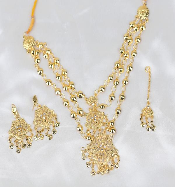 Beautiful Women Necklace Set Earring & Matha Patti  (PS-394)