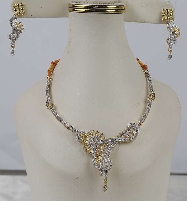 Beautiful Zircone Necklace Set With Earrings (PS-400)