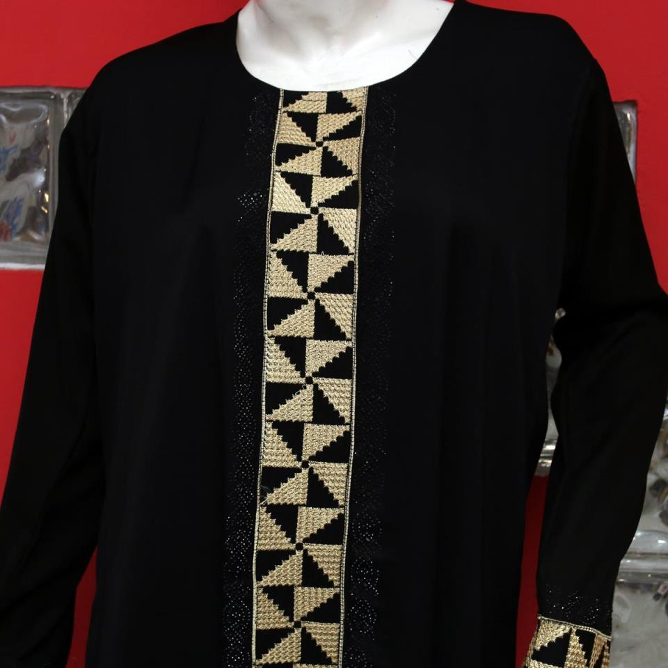 Nida Fabric Embroidery Abaya 2020 for Women With Scarf - (AB-55)