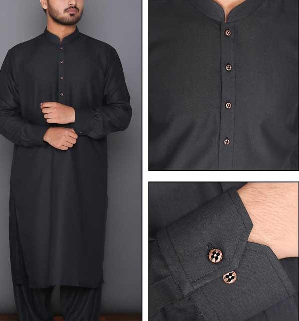 Best Quality Black Shalwar Kameez Design 2020 for Man,s Unstitched (MSK-67)