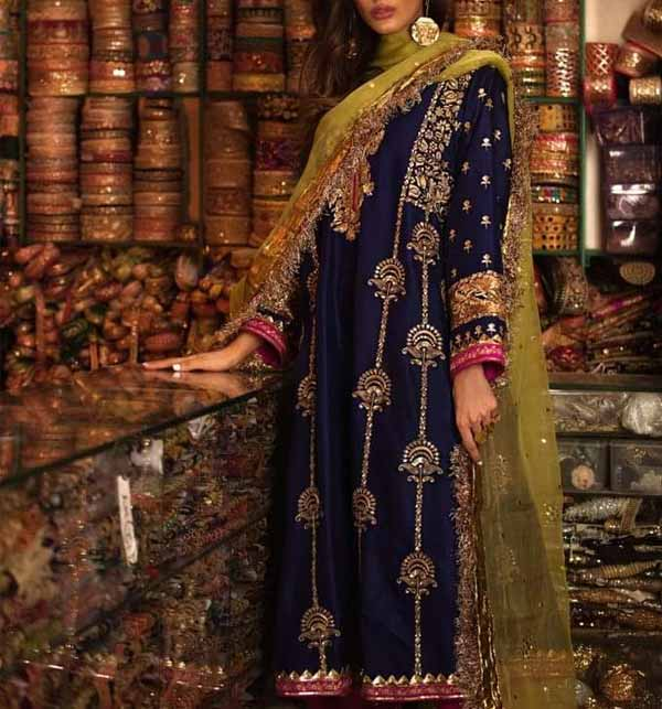 Chiffon Heavy Embroidered Suit With Net Dupatta (CHI-467)