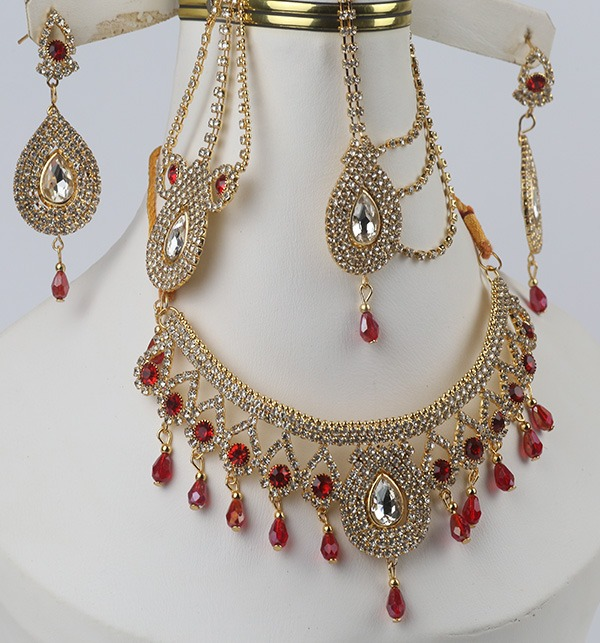 Bridal Jewelry Set With Earring Matha Patti For Dulhan (PS-332)