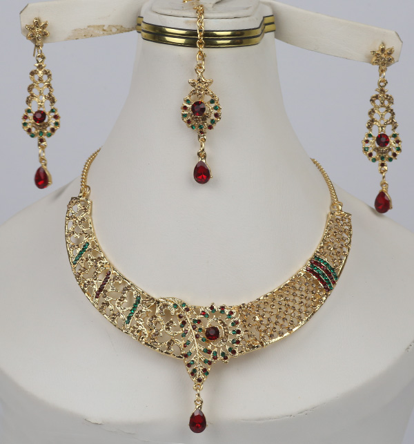 Bridal Jewelry Set With Earring Matha Patti For Dulhan (PS-335)