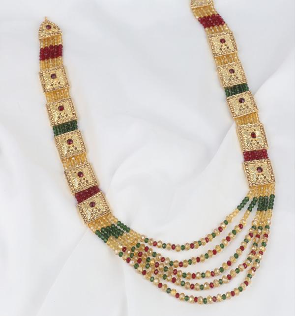 Bridal Multi color Golden Mala Necklace For Women  (PS-381)