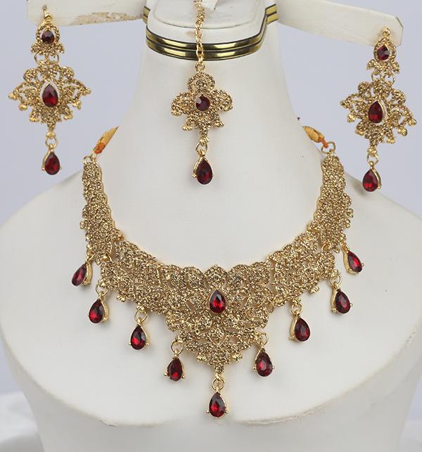 Beautiful Women Necklace Set Earring & Matha Patti (PS-276)