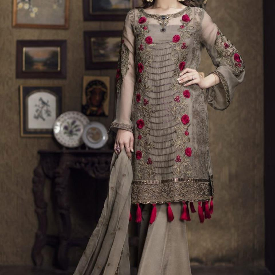 Chiffon Embroidered Suit Unstitched (CHI-115)