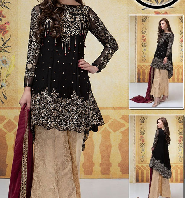 Chiffon Embroidery Suit With Chiffon Embroidery Duppata (CHI-377)