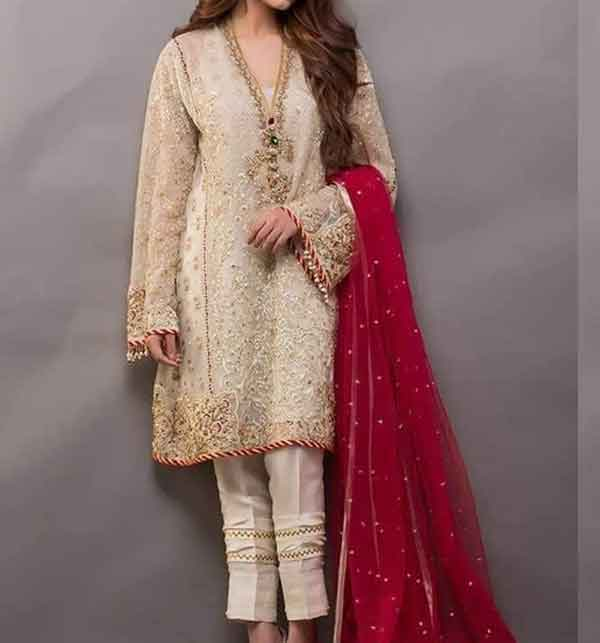 ef0b92860c2e16 Chiffon Embroidery Suit With Net Embroidery Duppata Unstitched (CHI-204)