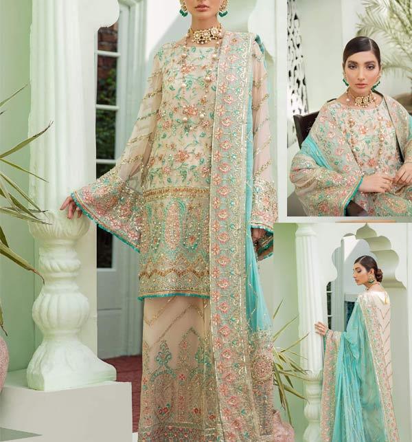 Chiffon Suit with Chiffon Heavy Pallu Embroidered Dupatta (CHI-509)