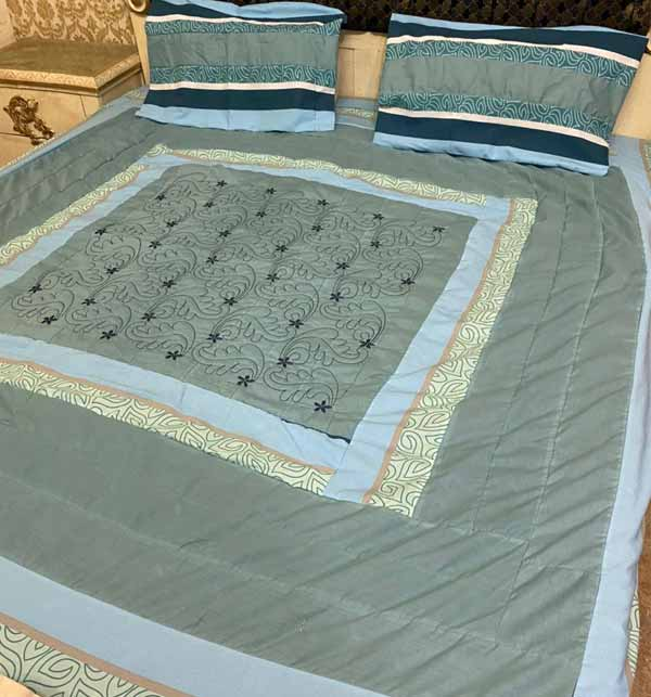 Cotton PatchWork King Size Bed Sheet With 2 Pillow Cover (BCP-39)