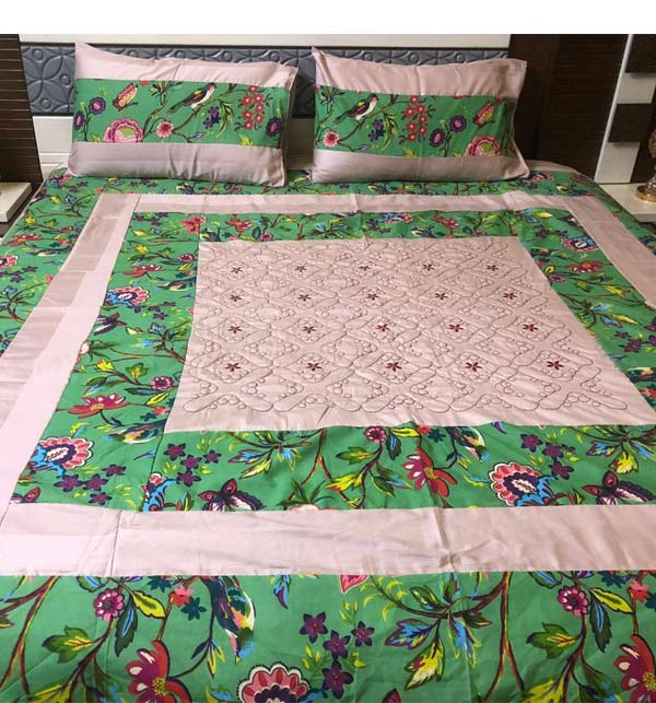 Cotton King size Patch Work Bed Sheets (BCP-02)