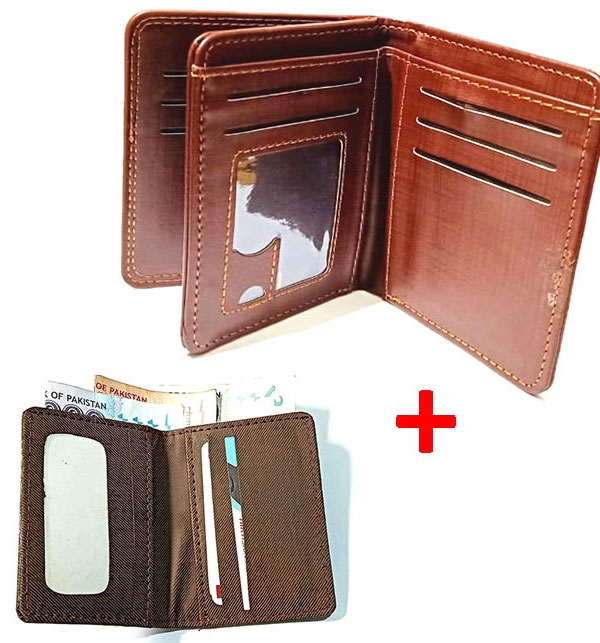DEAL Pack OF 2 - Gents Standard Wallet + Stylish Mini Card Holder