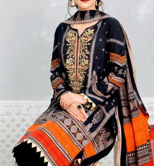 Khadder Embroidered Dress with Wool Shawl Dupatta (Unstitched) (KD-128)
