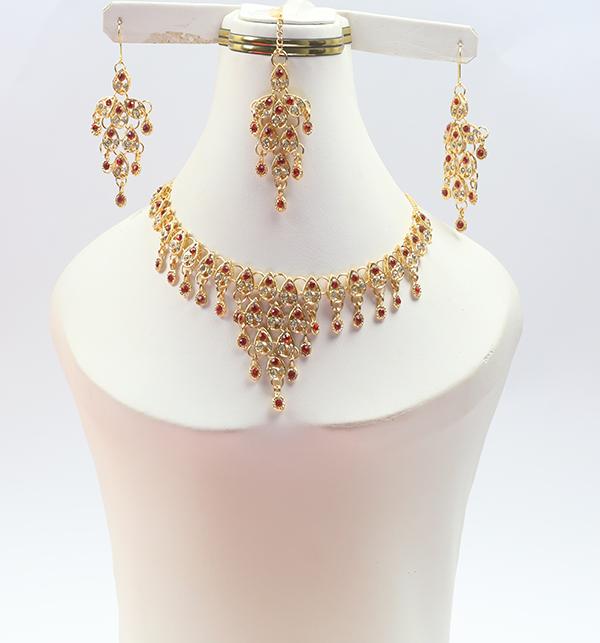 Designer Bridal Jewellery Set with Matha Patti (PS-246)