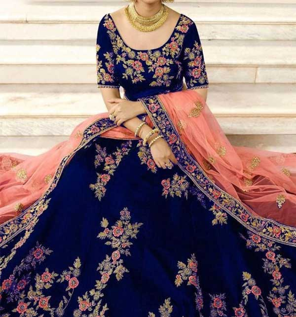 Indian Designer Chiffion Suit With Net Embroidery Duppata (CHI-401)