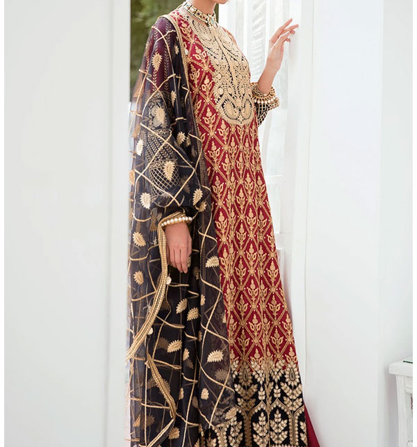 Designer Embroidery Lawn Dress With Chiffon Duppata (Unsitched) (DRL-469)